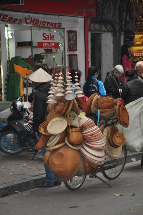 Basket vendor.  photo by Chris McLane