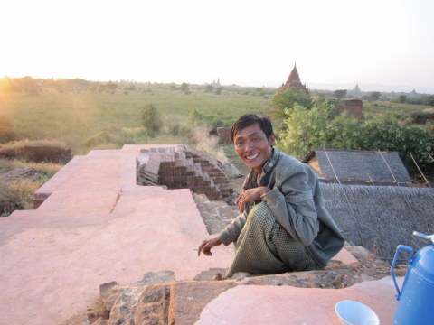 Our host at Bagan's sunset.